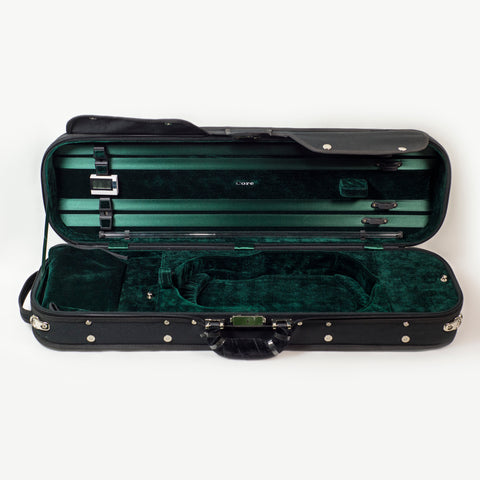 Howard Core CC500 4/4 Violin Case, Black with Green Interior