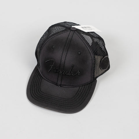 Fender Blackout Trucker Hat in Black