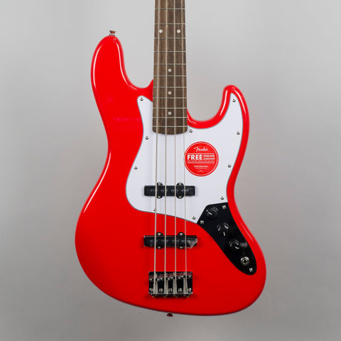 Squier Affinity Series Jazz Bass Guitar in Race Red