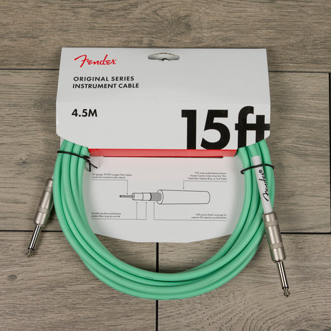 Fender 15' Original Series Instrument Cable in Surf Green