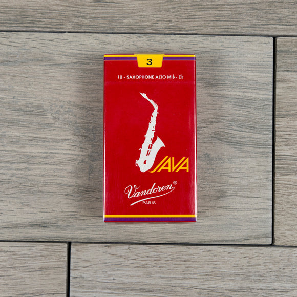 Vandoren Java Filed Red Cut Alto Sax Reeds Strength 3 (Box of 10)