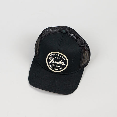 Fender West Coast Trucker Hat in Black