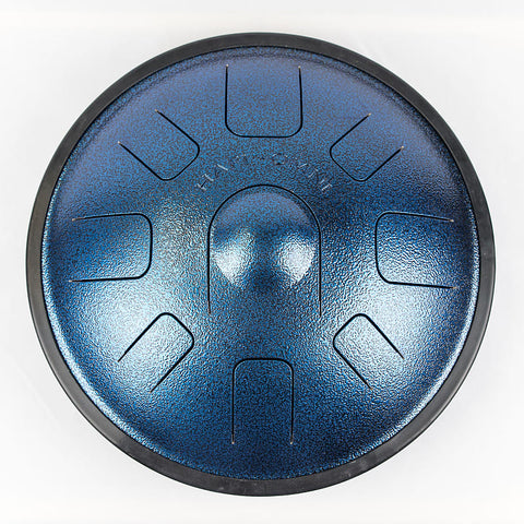 HAPI Drum Omni Steel Tongue Drum, F Major in Metallic Blue, Includes Carrying Bag