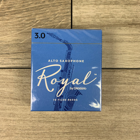 Royal by D'Addario Alto Sax Reeds, Strength 3.0 (Box of 10)