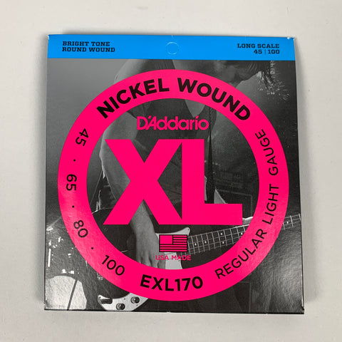 D'Addario EXL170 Nickel Wound Light Bass Strings, Long Scale, 45-100