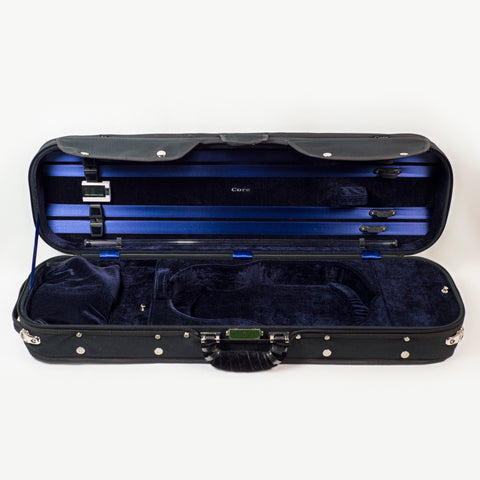 Howard Core CC500 4/4 Violin Case, Black with Blue Interior