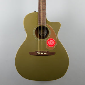 Fender Newporter Player Acoustic/Electric Guitar in Olive Satin