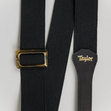 Taylor GS Mini Series Black Cotton Guitar Strap, 2""