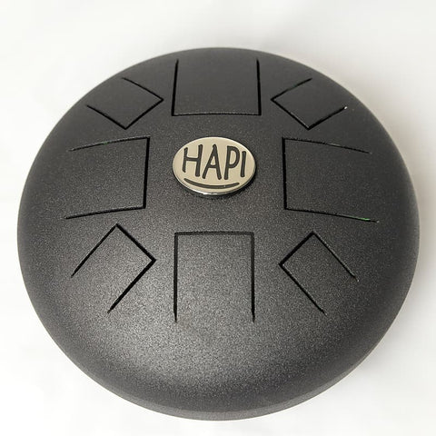 HAPI Drum Slim Hand Steel Tongue Drum, A Akebono, Includes Carrying Bag