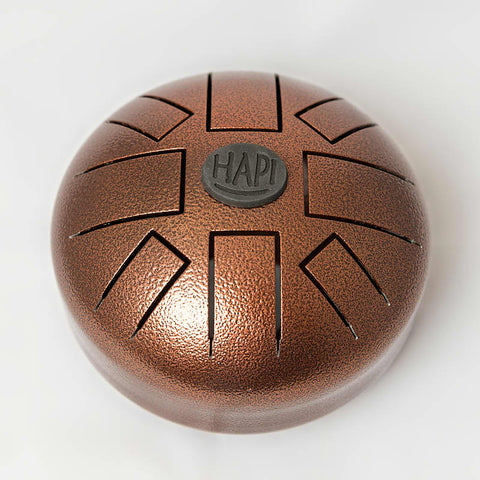 HAPI Drums Mini Steel Tongue Drum, D Akebono, Includes Carrying Bag