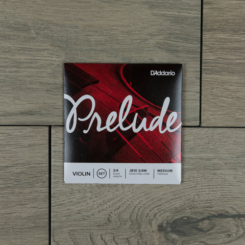 D'Addario J810 3/4M Prelude Violin Strings 3/4 Scale Length