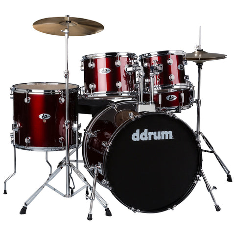 ddrum D2 Series 5-Piece Drum Set w/Cymbals in Blood Red