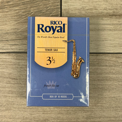 Royal by D'Addario Tenor Sax Reeds, Strength 3.5 (Box of 10)