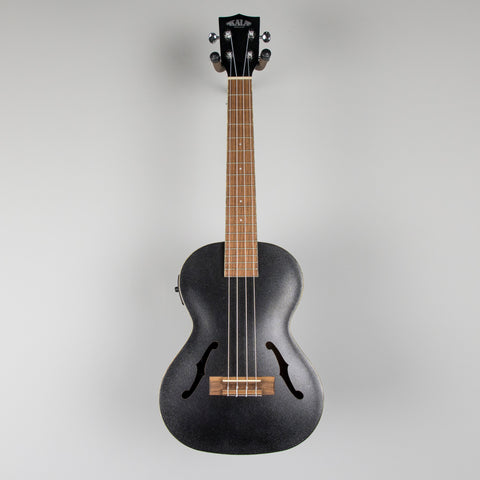 Kala KA-JTE/MTB Archtop Tenor Ukulele with EQ, Metallic Black