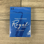 Royal by D'Addario Tenor Sax Reeds, Strength 2.5 (Box of 10)