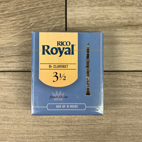 Royal by D'Addario Bb Clarinet Reeds, Strength 3.5 (Box of 10)