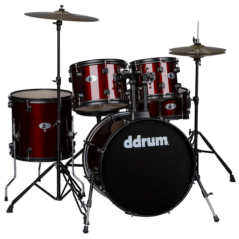 ddrum D120 5-Piece Drum Set with Cymbals, in Blood Red