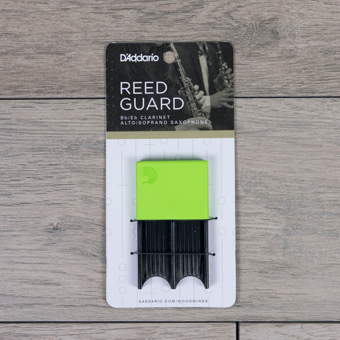 D'Addario Alto Sax/Clarinet Reed Guard in Green (Holds 4 Reeds)
