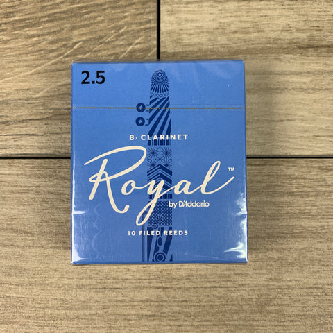 Royal by D'Addario Bb Clarinet Reeds, Strength 2.5 (Box of 10)