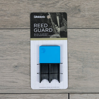 D'Addario Alto Sax/Clarinet Reed Guard in Blue (Holds 4 Reeds)