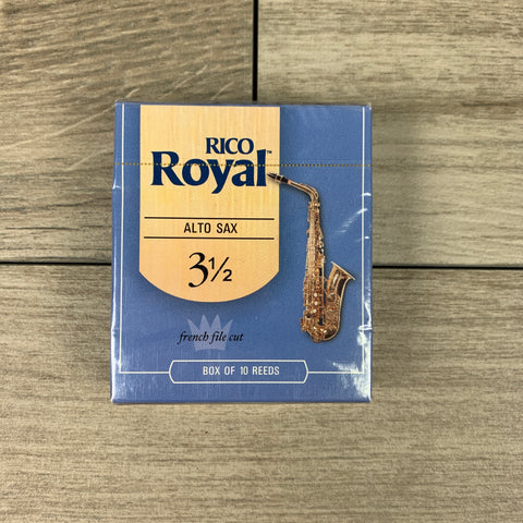 Royal by D'Addario Alto Sax Reeds, Strength 3.5 (Box of 10)