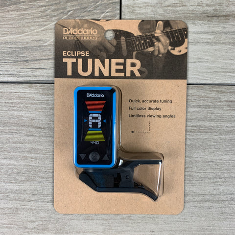 D'Addario Eclipse CT17 Headstock Tuner in Blue