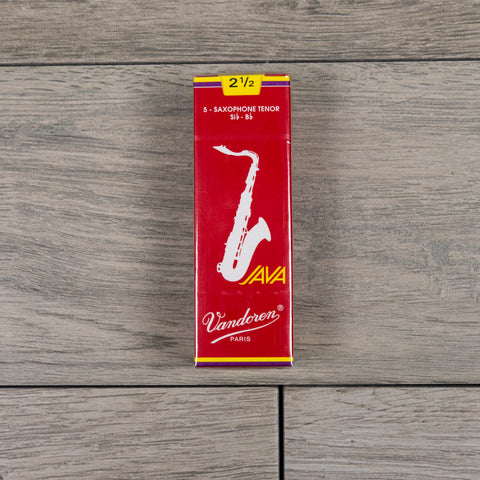Vandoren Java Filed Red Cut Tenor Sax Reeds Strength 2.5  (Box of 5)