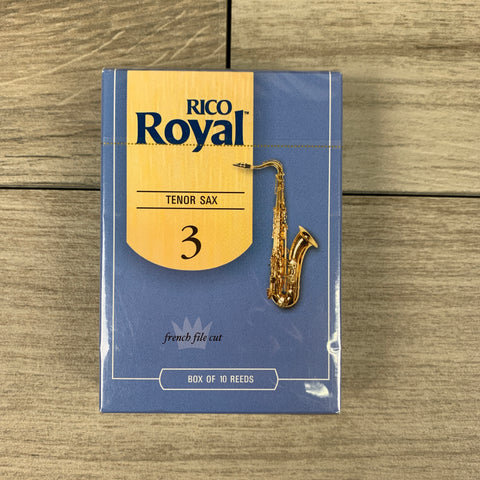 Royal by D'Addario Tenor Sax Reeds, Strength 3.0 (Box of 10)