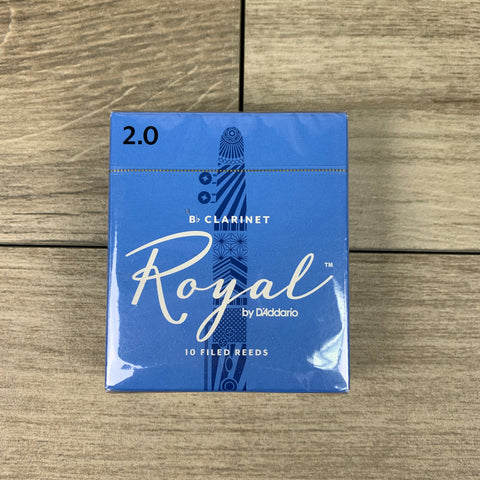 Royal by D'Addario Bb Clarinet Reeds, Strength 2.0 (Box of 10)