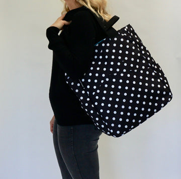 Tennis Tote in Polka Dot