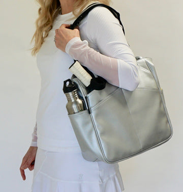Mini T-Tote in Silver
