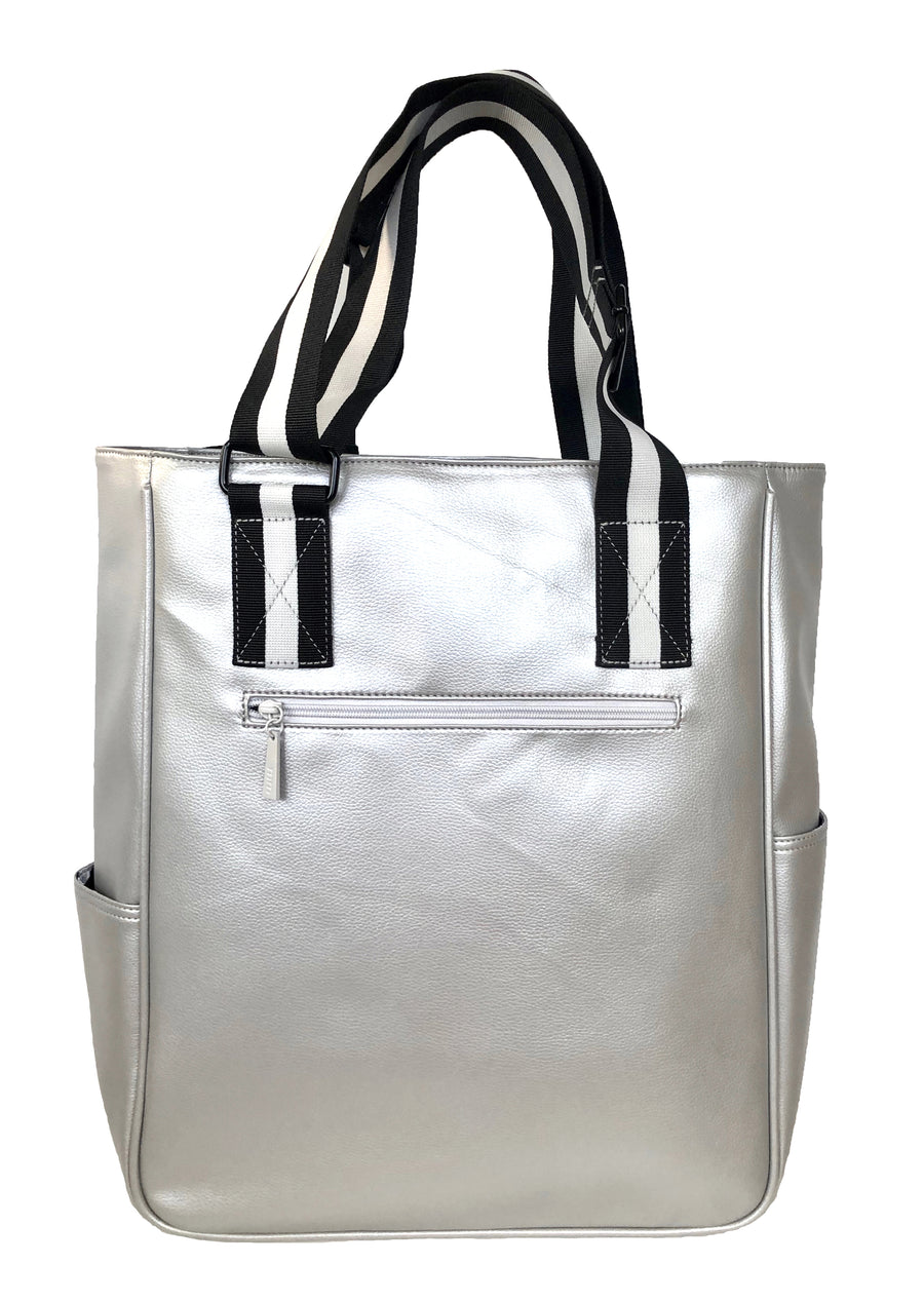 Tennis Tote in Silver
