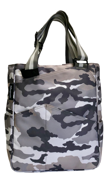 Tennis Tote in Grey Camo
