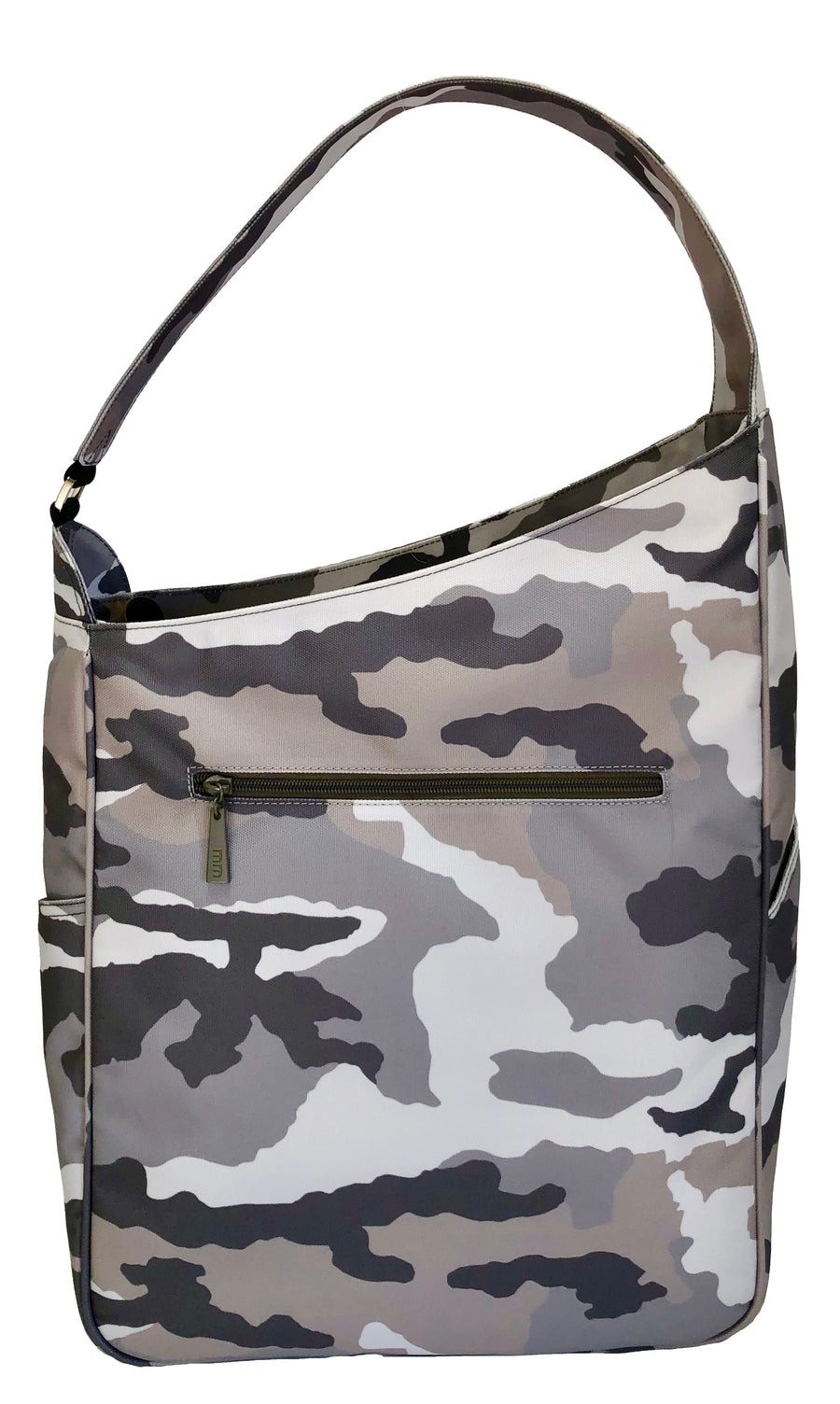 Shoulder Bag in Grey Camo
