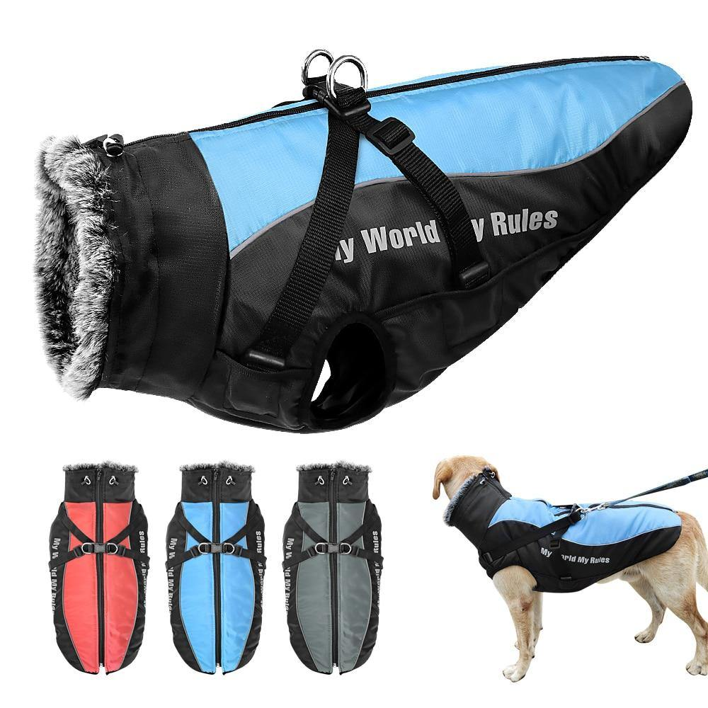 Warm Pet Clothes Winter Thicken Dog Coat Harness - Minus One Store