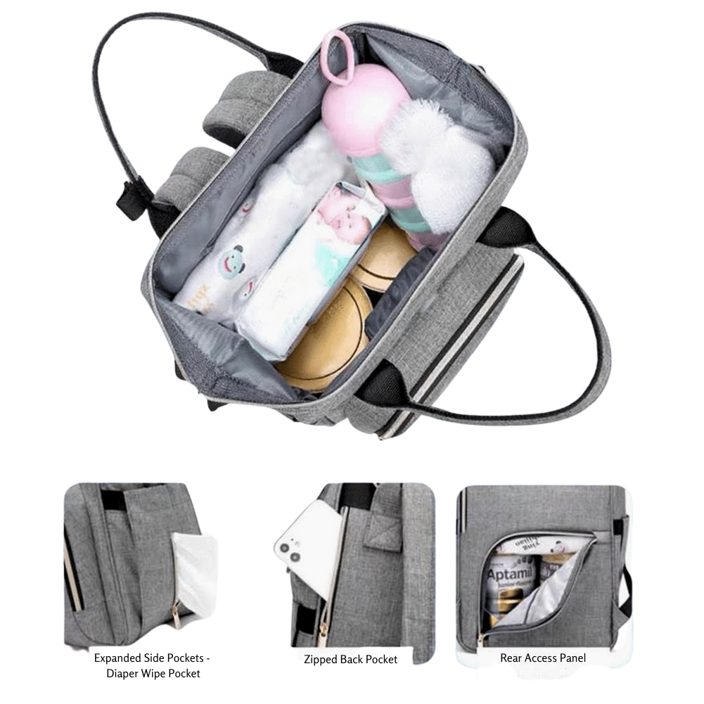 CHIRP Bebe™ SmartGuard Disinfecting Diaper Bag