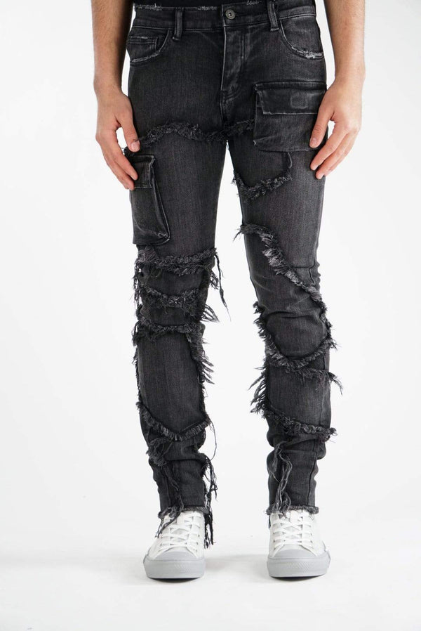 "Valabasas Denim Skinny VALABASAS JEANS ""DISTINCT"" BLACK WASHED"