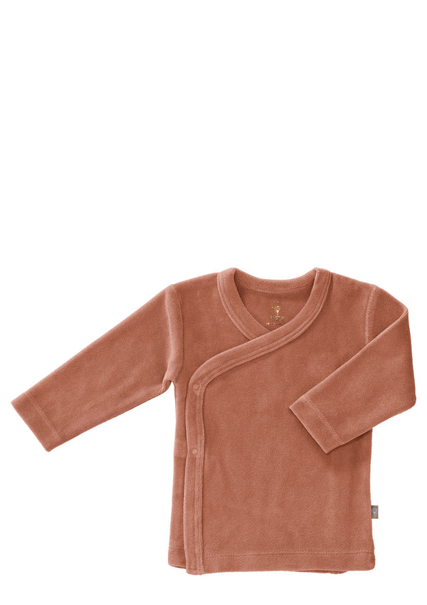 Baby Wickeljacke Velours Ash rose