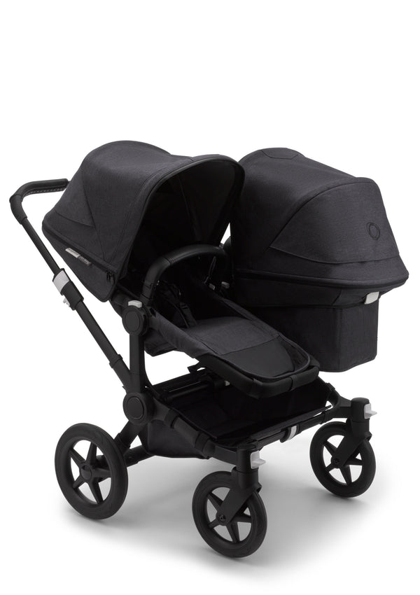 Donkey 3 mineral Duo Kinderwagen-Set Schwarz / Washed Black