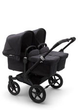 Donkey 3 mineral Twin Kinderwagen-Set Schwarz / Washed Black