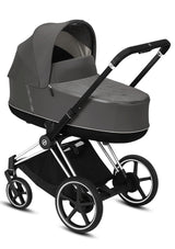 e-Priam Kinderwagen-Set Chrome Black / Soho Grey
