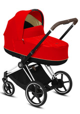 e-Priam Kinderwagen-Set Chrome Brown / Autumn Gold