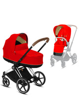 Priam Kinderwagen-Set Chrome Brown / Autumn Gold