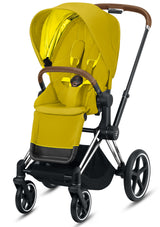 Priam Kinderwagen-Set Chrome Brown / Mustard Yellow