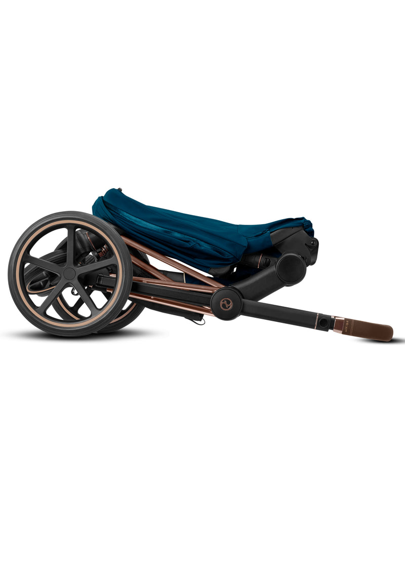Priam Kinderwagen-Set Rosegold / Mountain Blue