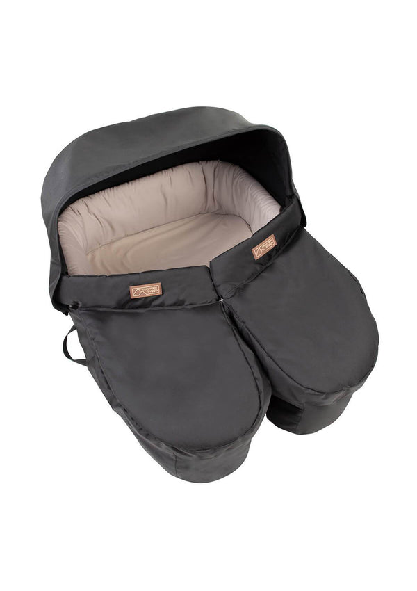 Carrycot Plus for twins Black