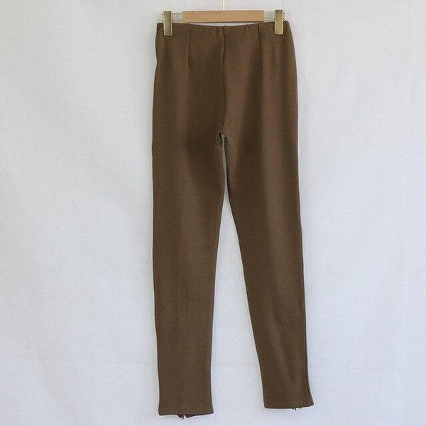 Casual black brown High Waist Skinny Pants trousers - Clothing-women  Betaalbare Kleding dames online Antwerpen