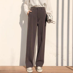Casual Loose Straight Women Suit Pants - Clothing-women  Betaalbare Kleding dames online Antwerpen