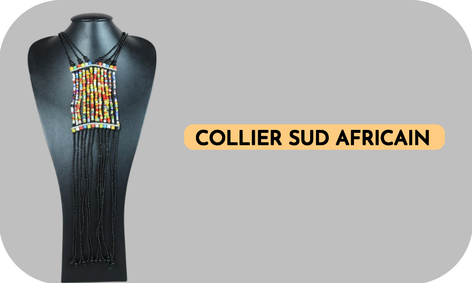 Collier perles sud africain pour mariage