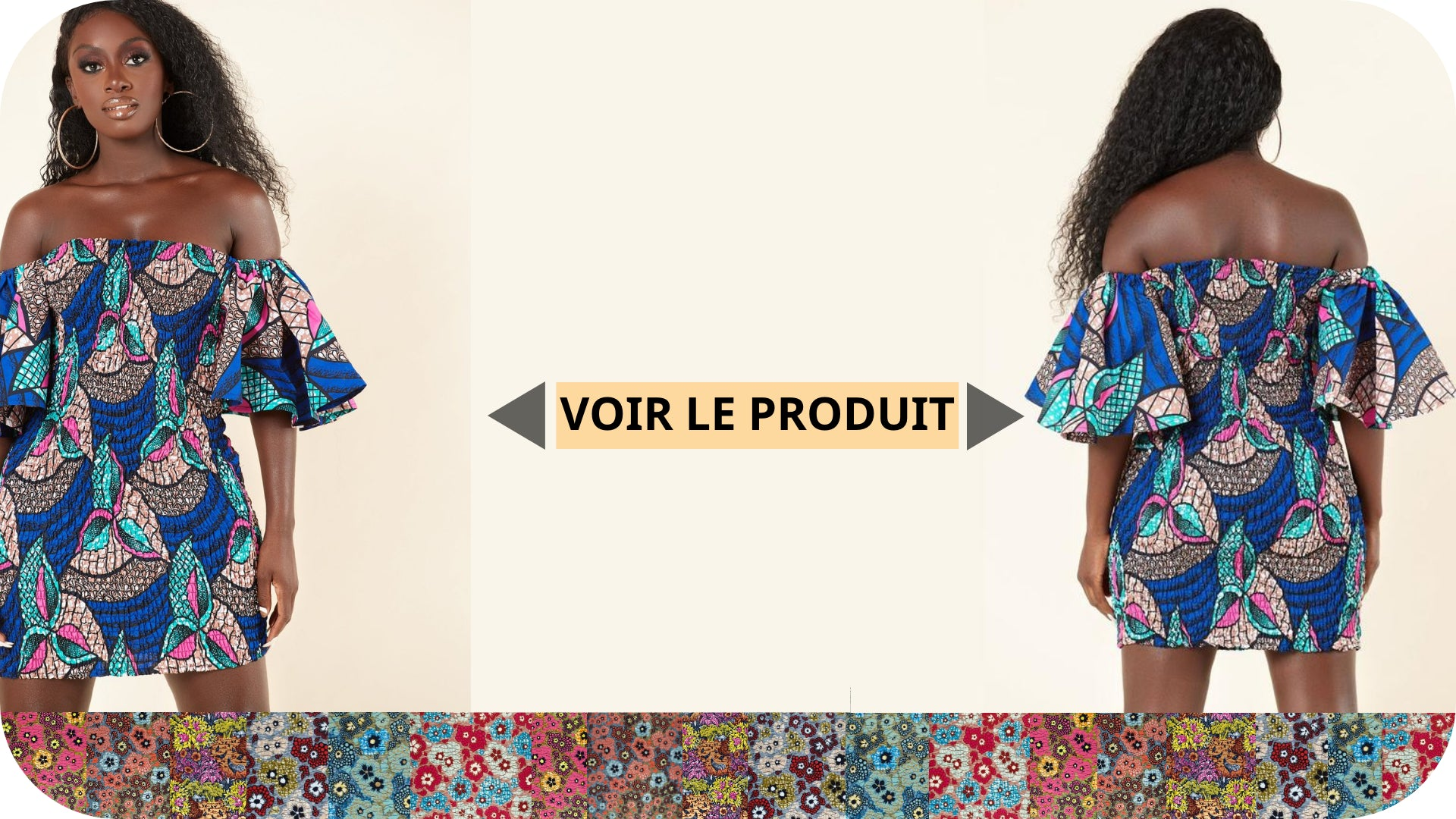 Robe Bustier Pagne Africain